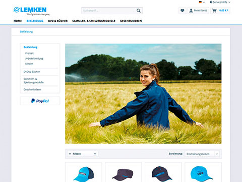 Implementation of a responsive merchandising online shop