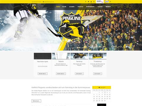 Krefelder Pinguine Website